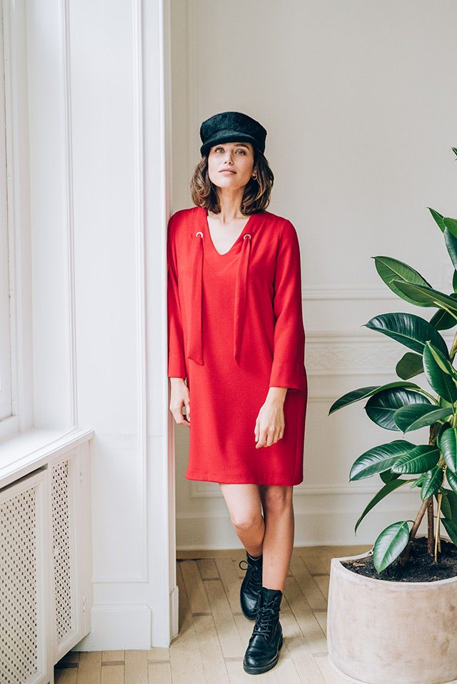 DRESS ALISON CHILL RED