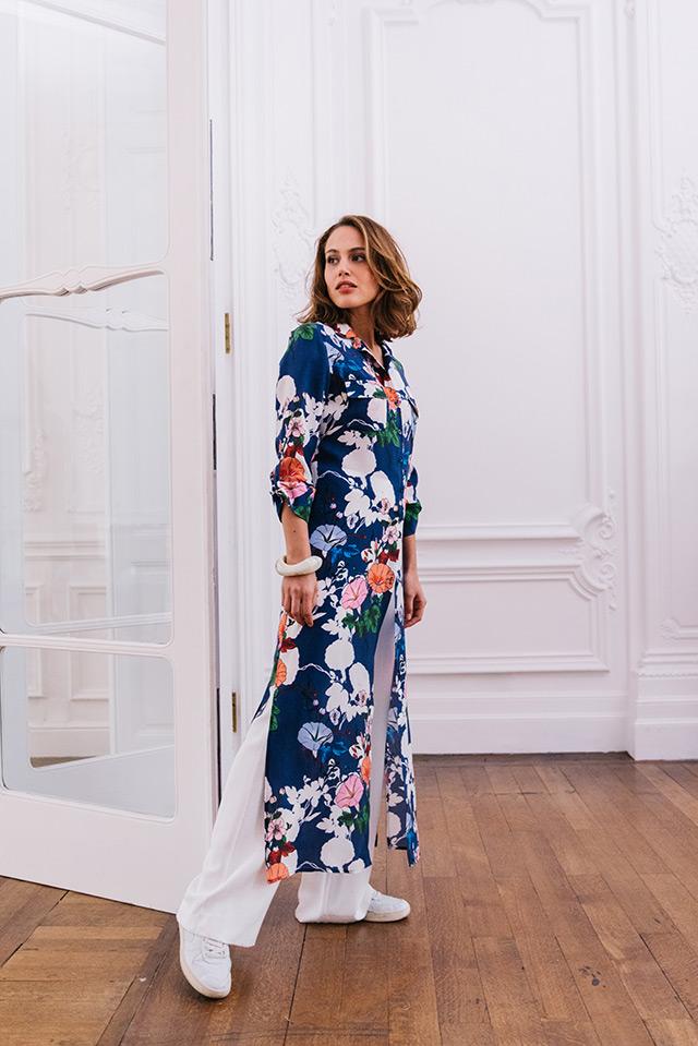 DRESS AURÉLIA / B FINA 02/ PANTS TILAS SASHA / ECRU