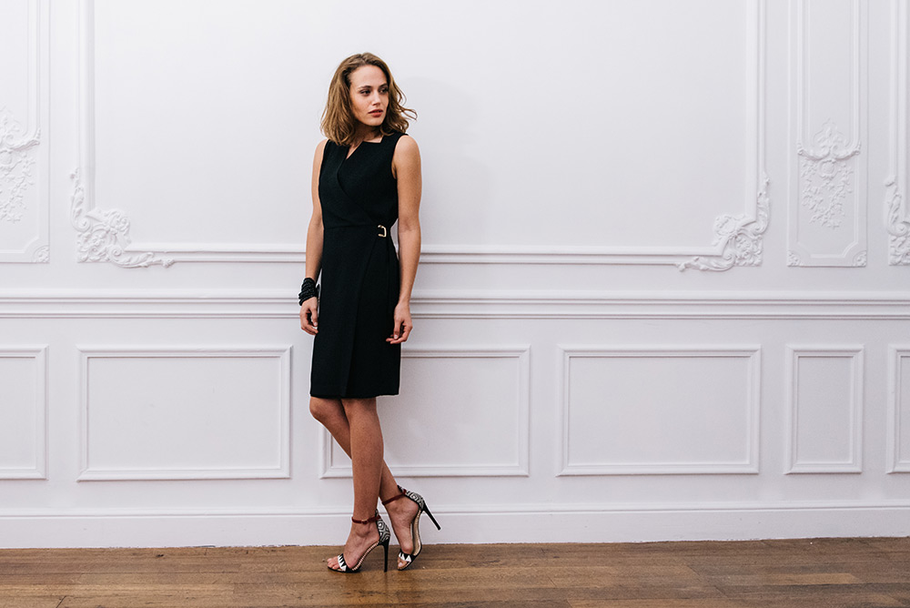DRESS AUDE ROMA BLACK